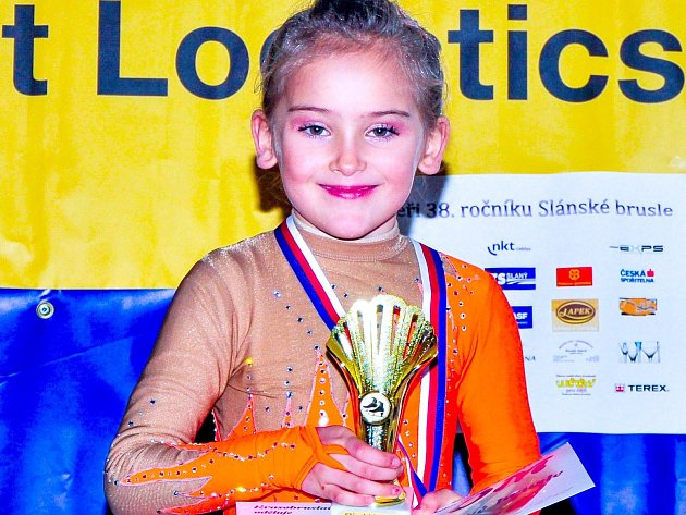 Kateřina Hrdličková získala na Slánské brusli zlato.