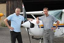 Pilot Petr Opat a navigátor Jan Havlík