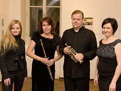 Soprán, flétna, trubka a klavír