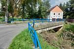 Most u čistírny odpadních vod v Rakovníku.