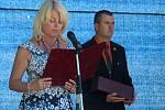 Oslav sedmdesátého výročí položení základního kamene nové obce Lidice se zúčastnili vzácní hosté.