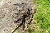 Právě tady bylo nalezeno ohořelé mrtvé tělo