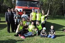 Hasiči se zúčastnili okrskového kola soutěže v požárním sportu.