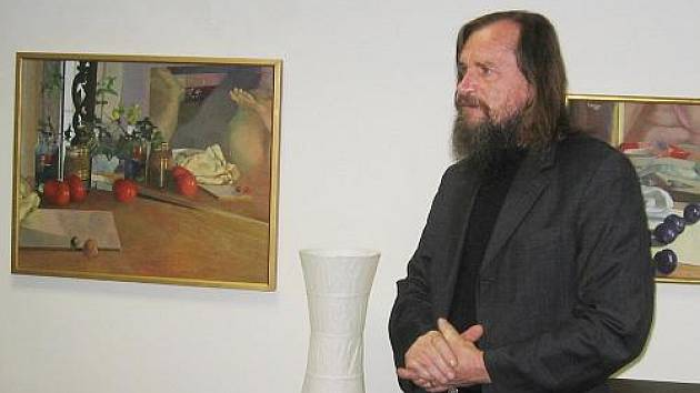 Václav Zoubek ve vinotéce