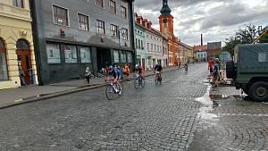 Nedělní závody v rámci akce Cyklování