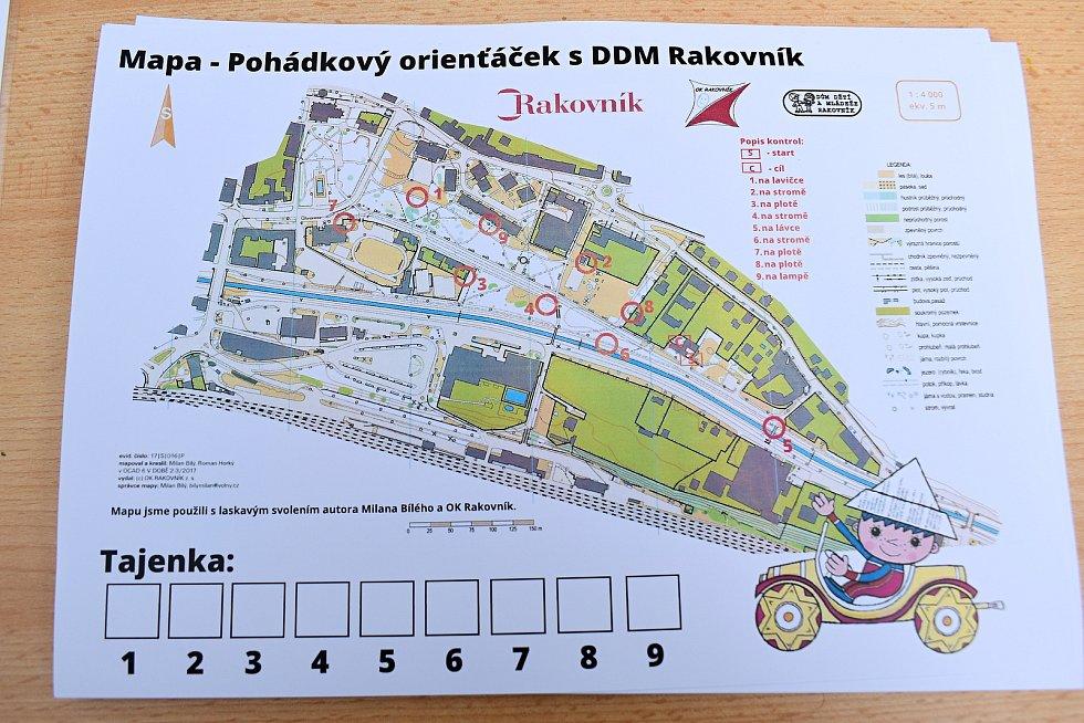 Pohádkový orienťáček v Čermákových sadech v Rakovníku.