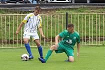 Z fotbalového utkání I.B třídy SK Rakovník B - Hostouň B (2:5)