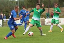 Tatran Rakovník (v zeleném) - Česká Lípa 2:3 po penaltách.