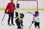 """Akce """"Pojď hrát hokej"""" přilákala na zimní stadion v Rakovníku pětadvacet dětí."""