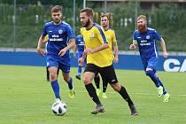 Z fotbalového utkání České fotbalové ligy Králův Dvůr - SK Rakovník (3:1)