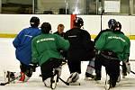 První trénink rakovnických hokejistů od vedením nového kouče Otakara Vejvody staršího