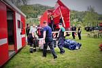 U Zbečna na Rakovnicku se v pátek a v sobotu uskutečnilo rozsáhlé taktické cvičení Povodňová vlna 2020.