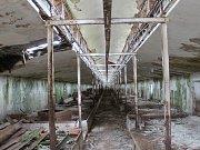 Zchátralé  objekty bývalé živočišné v Kolešově