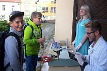 Pasování studentů primy rakovnického gymnázia