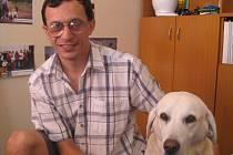 Petr Kyncl a jeho vodící pes Žofinka