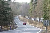 Místo nejčastějších dopravních nehod silnice z Rudy na Rakovník