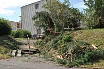 Úterní bouře v Rakovníku poničila především městskou zeleň