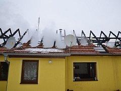Požár rodinného domu v Kněževsi