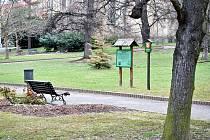 Promáčený je také chodník v parku T. G, Masaryka