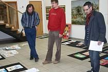 Porota vybírá obrázky na výstavu