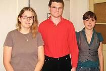 Markéta Adamcová, David Kozler a Kristýna Biňovcová