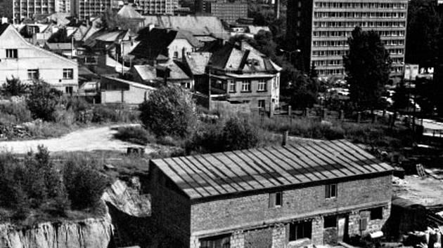 Pohled na Terasu od rakovnické nemocnice v roce 1987.
