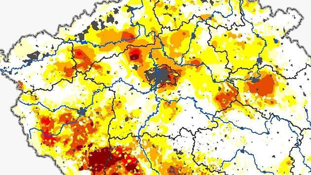 Stav sucha v 19. lednu 2020.
