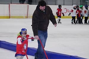 Týden hokeje na rakovnickém zimním stadionu přilákal v pátek 25. ledna 2019 třicet jedna začínajících bruslařů.