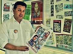 Uznávaný karikaturista Milan Kounovský oslavil padesáté narozeniny