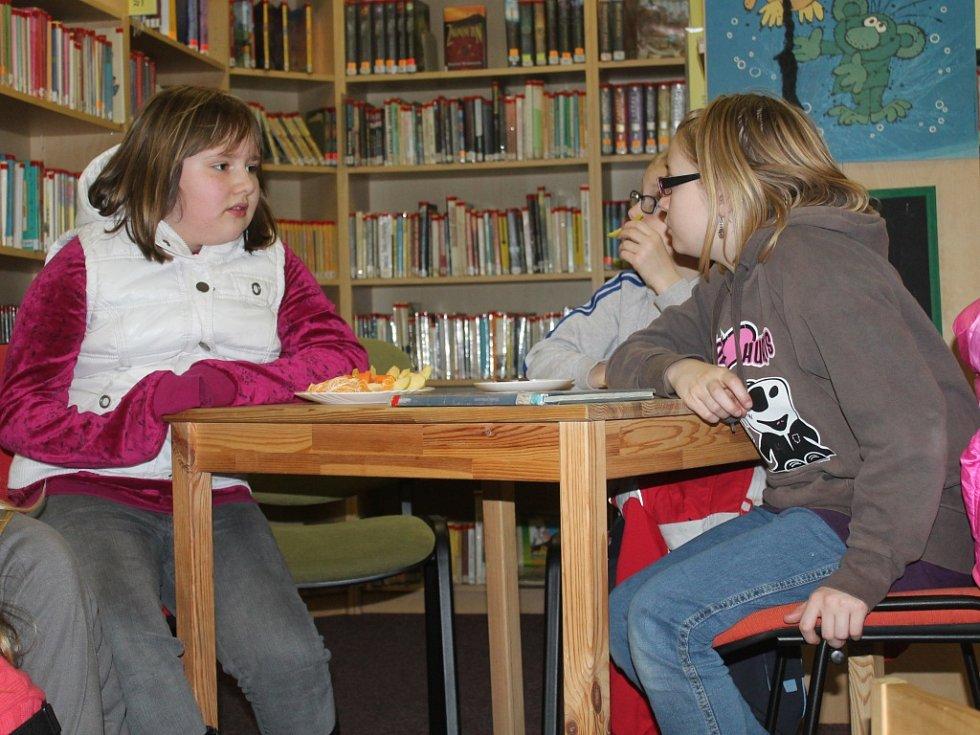 Čtení dětem v Městské knihovně v Novém Strašecí