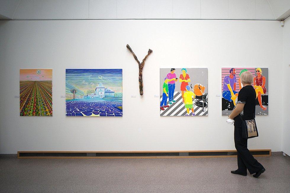 Slavnostní vernisáž Členské výstavy Středočeského sdružení výtvarníků, Rabasova galerie v Rakovníku.
