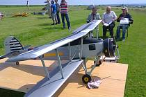 Fairey Swordfish Mk.II Miroslava Dvořáčka z Třebíče při statickém hodnocení