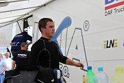 Ve třetí rozjížďce zvítězil Jakub Kubíček stylem start-cíl. Neměl konkurenci.