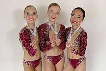 Úspěšné trio. Sabrina Nguyen, Marie Doležalová a Gabriela Uriková skončily na mistrovství republiky na třetí příčce