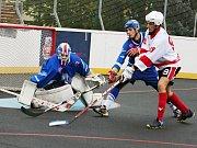 Hokejbalisté HBC Rakovník v druhém kole extraligy podlehli Pardubicím 3:5.