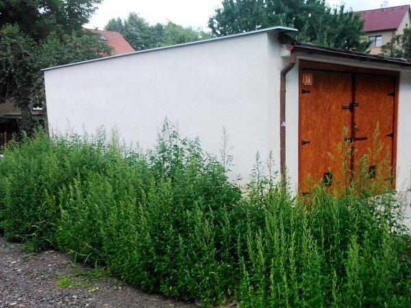 Opravená garáž Věry Vítkové