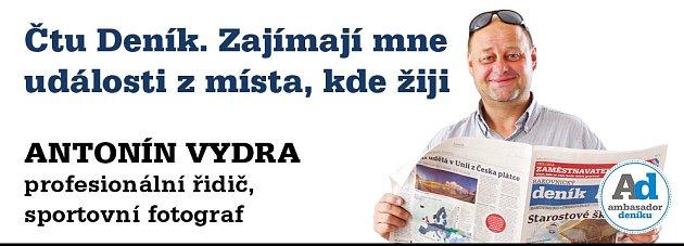 Ambasador Rakovnického deníku Antonín Vydra.