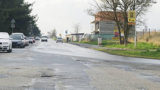 Luženská ulice v Rakovníku