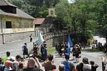 Obsazení Křivoklátu švédským historickým vojskem se nakonec obešlo bez boje.