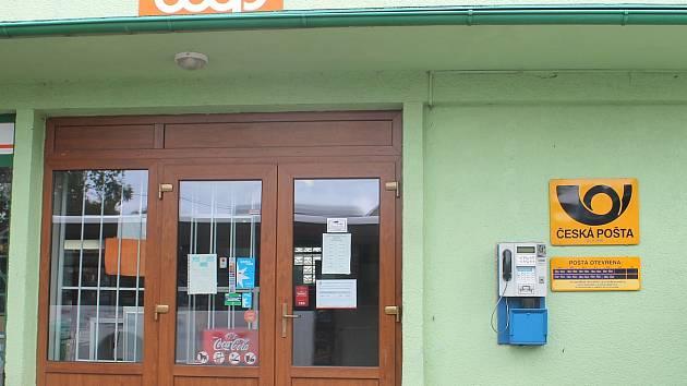 Pošta v Lišanech v obchodě Jednota