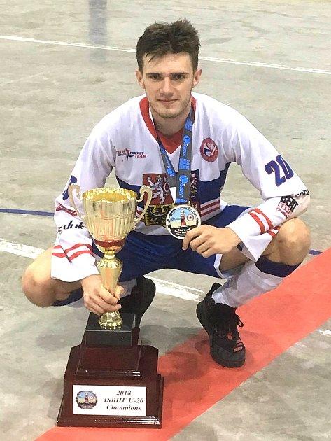 Milan Sýkora junior jako juniorský mistr světa.
