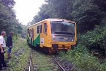 Vykolejení osobního vlaku typu Regionova u Milostína