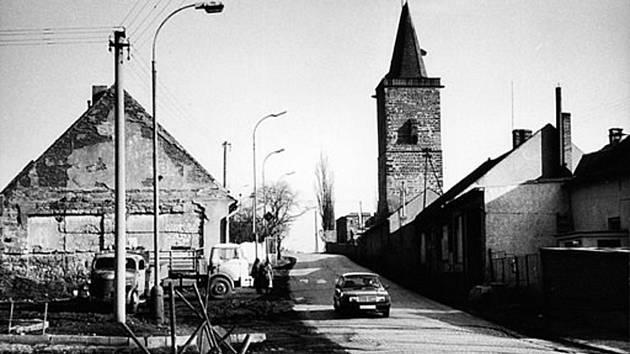 Havlíčkova ulice na konci osmdesátých let.