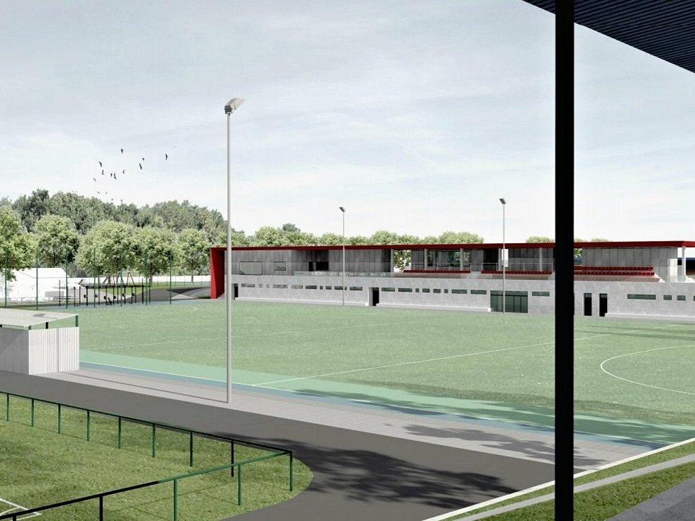 Vizualizace budoucí rekonstrukce a modernizace areálu SK Rakovník.
