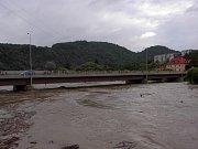 Povodně na Berounce srpen 2002.