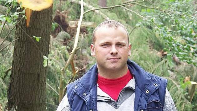 Velitel hasičů v Čisté Tomáš Vopata