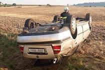 Nehoda u Řevničova.