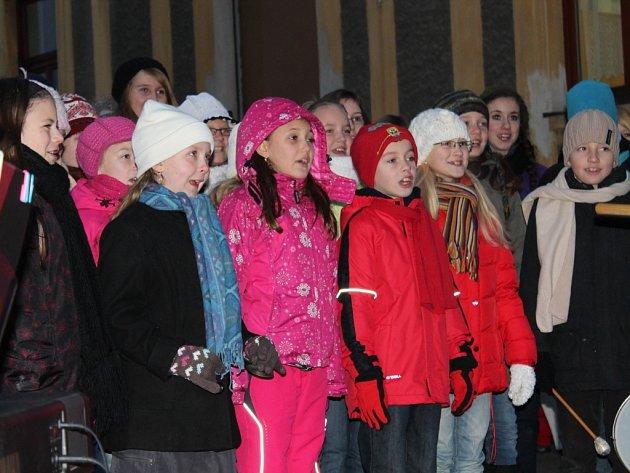 Rozsvěcení vánočního stromu v Kolešovicích 2012
