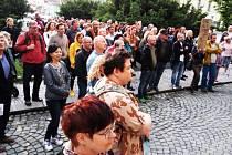 Proti vládě Andreje Babiše (ANO) se demonstrovalo i v Rakovníku.