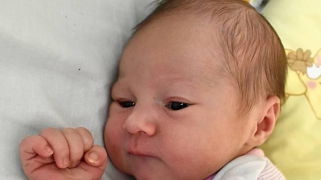 ADÉLA HUTROVÁ, RUDA. Narodila se 10. února 2020. Po porodu vážila 2,95 kg a měřila 47 cm. Rodiče jsou Alena a Martin.